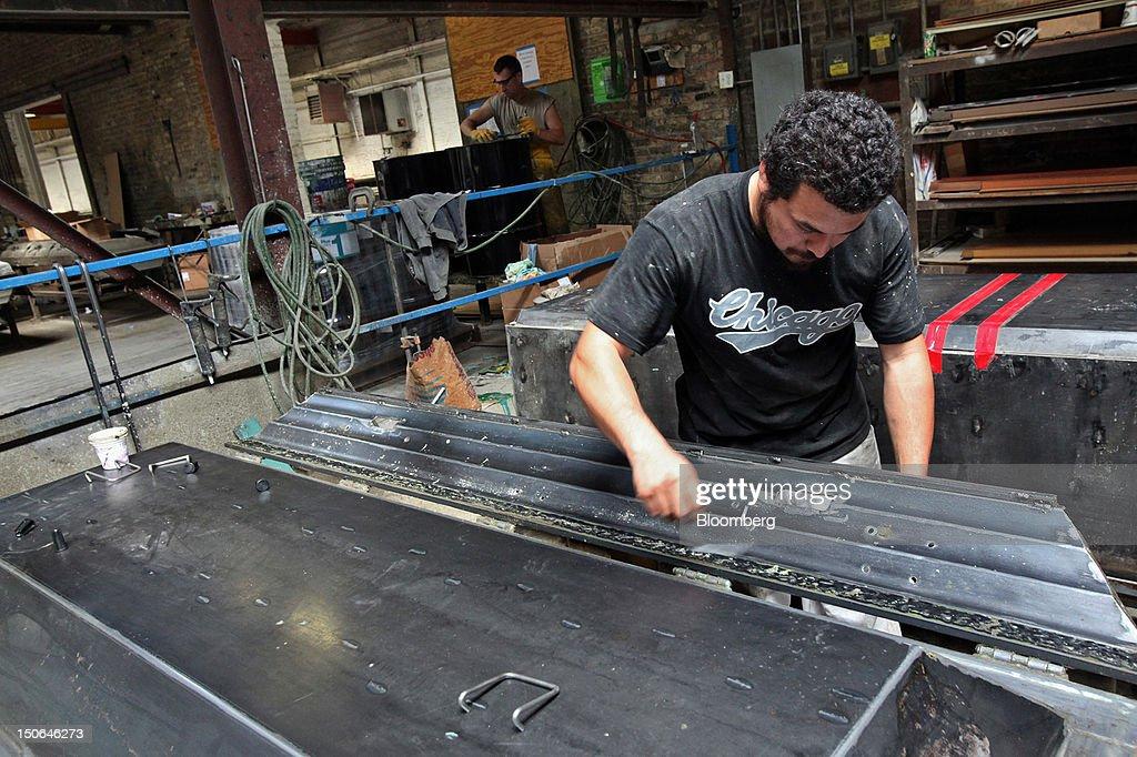 Casket Manufacturing At American Wilbert Vault Factory