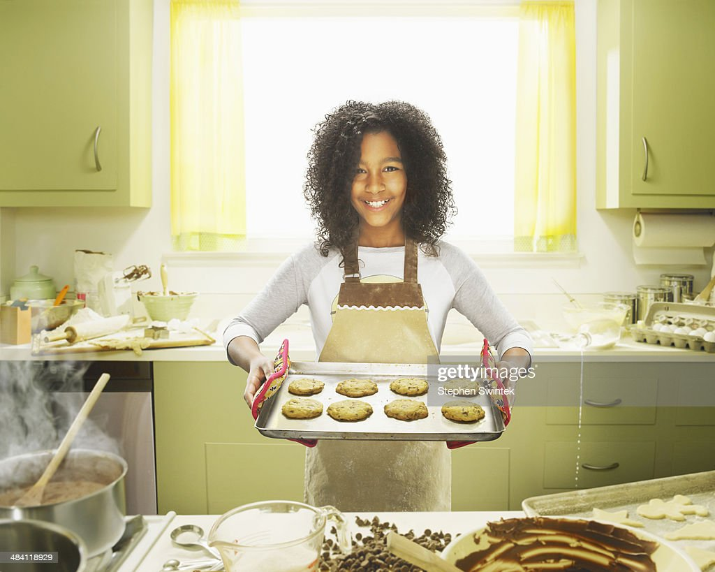 9 Year Old Girl Posing With Baked Cookies Stock Photo  Getty Images