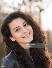 young beautiful girl with long