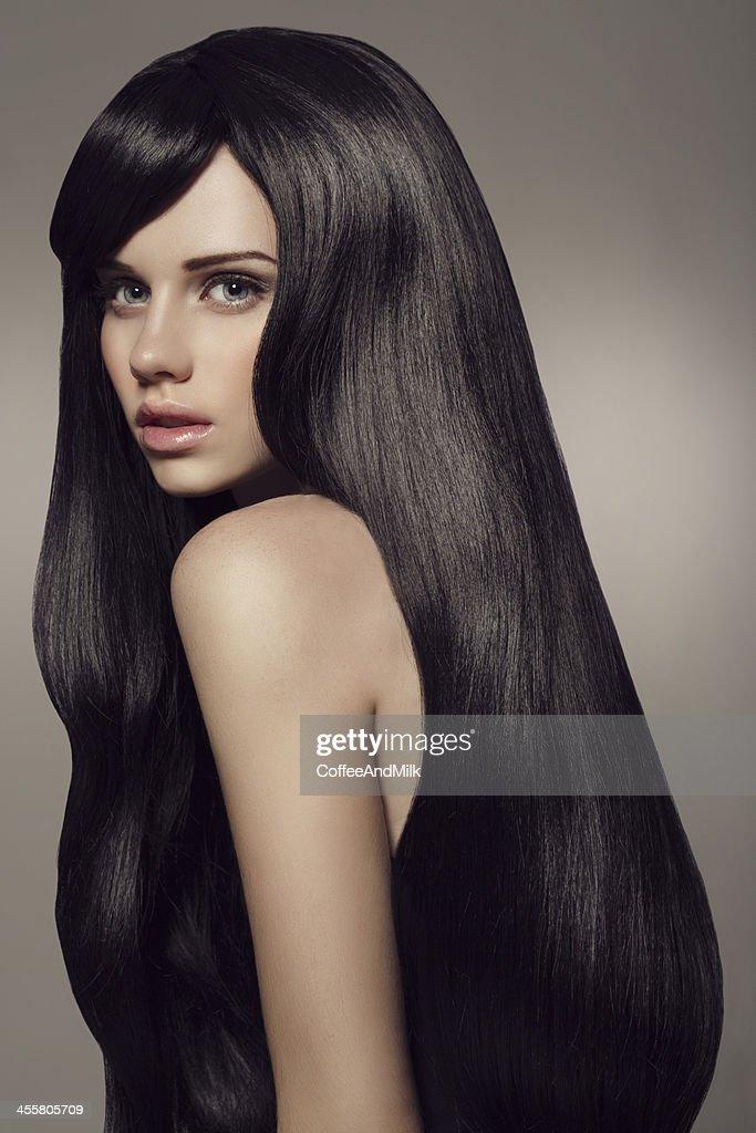 black hair stock