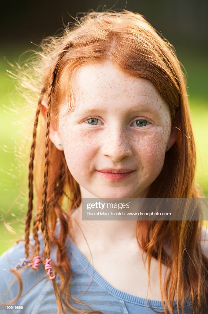 young girl with long red hair