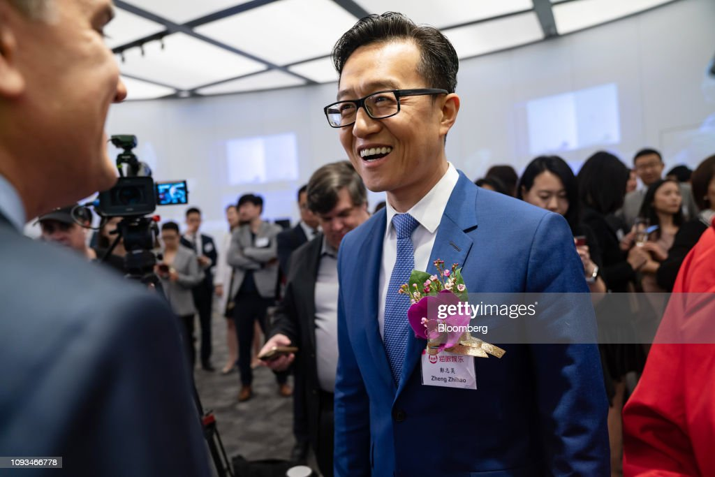 Zheng Zhihao. chief executive officer of Maoyan Entertainment.... News Photo - Getty Images