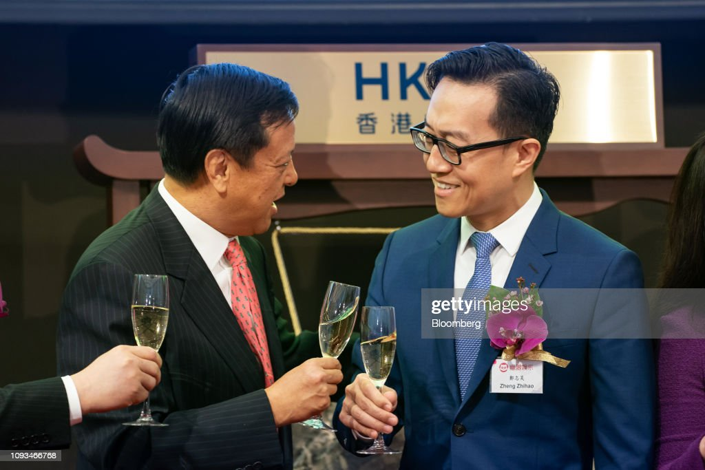 Zheng Zhihao. chief executive officer of Maoyan Entertainment. right.... News Photo - Getty Images