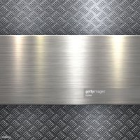 Abstract Metallic Background Metal Diamond Plate In Silver