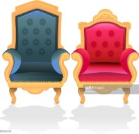 Antique Throne Chairs For King And Queen Clipart vectoriel ...
