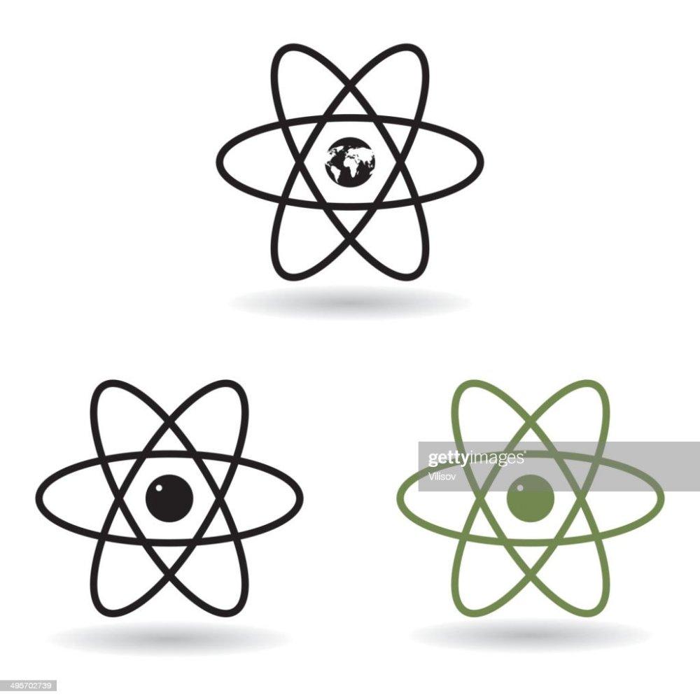 medium resolution of atom model vector art