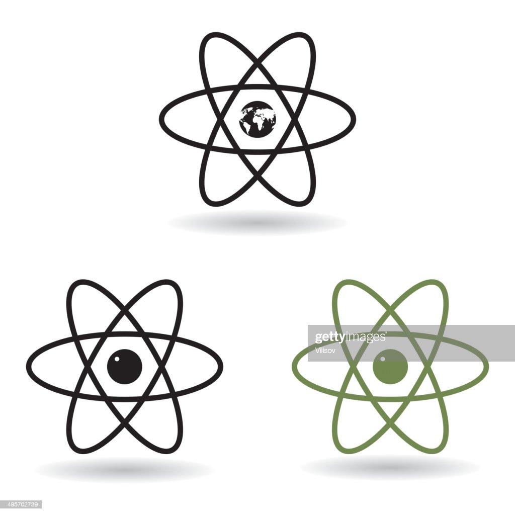 hight resolution of atom model vector art