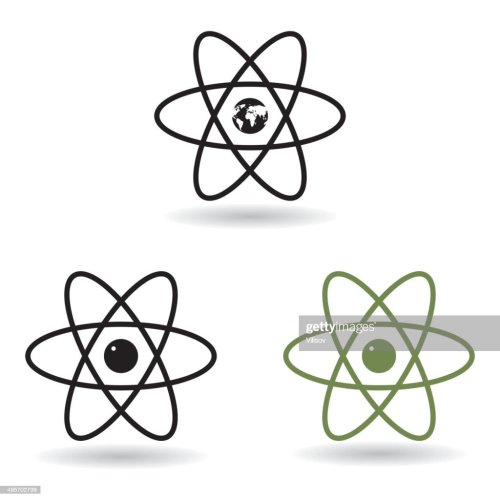 small resolution of atom model vector art