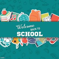 Back To School Supplies Background Vector Art   Getty Images