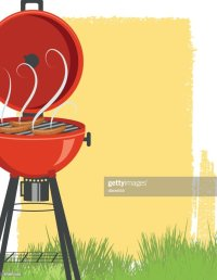 Backyard Bbq Background Background Vector Art