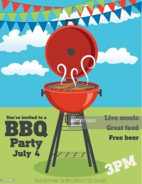 Backyard Bbq Background Invitation Template Vector Art ...