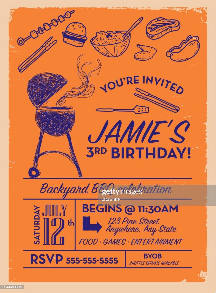 https www gettyimages com detail illustration backyard bbq birthday party invitation royalty free illustration 944450396