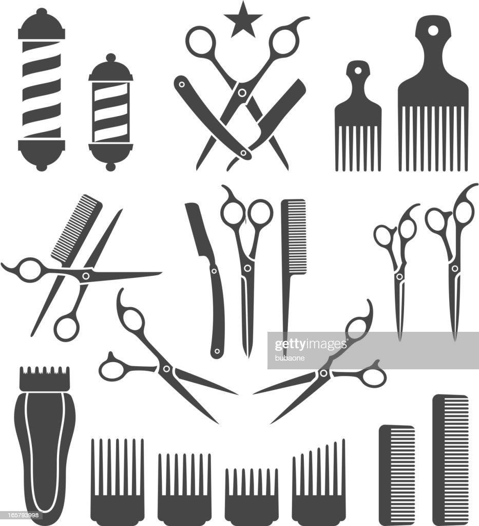 barber tools haircut black