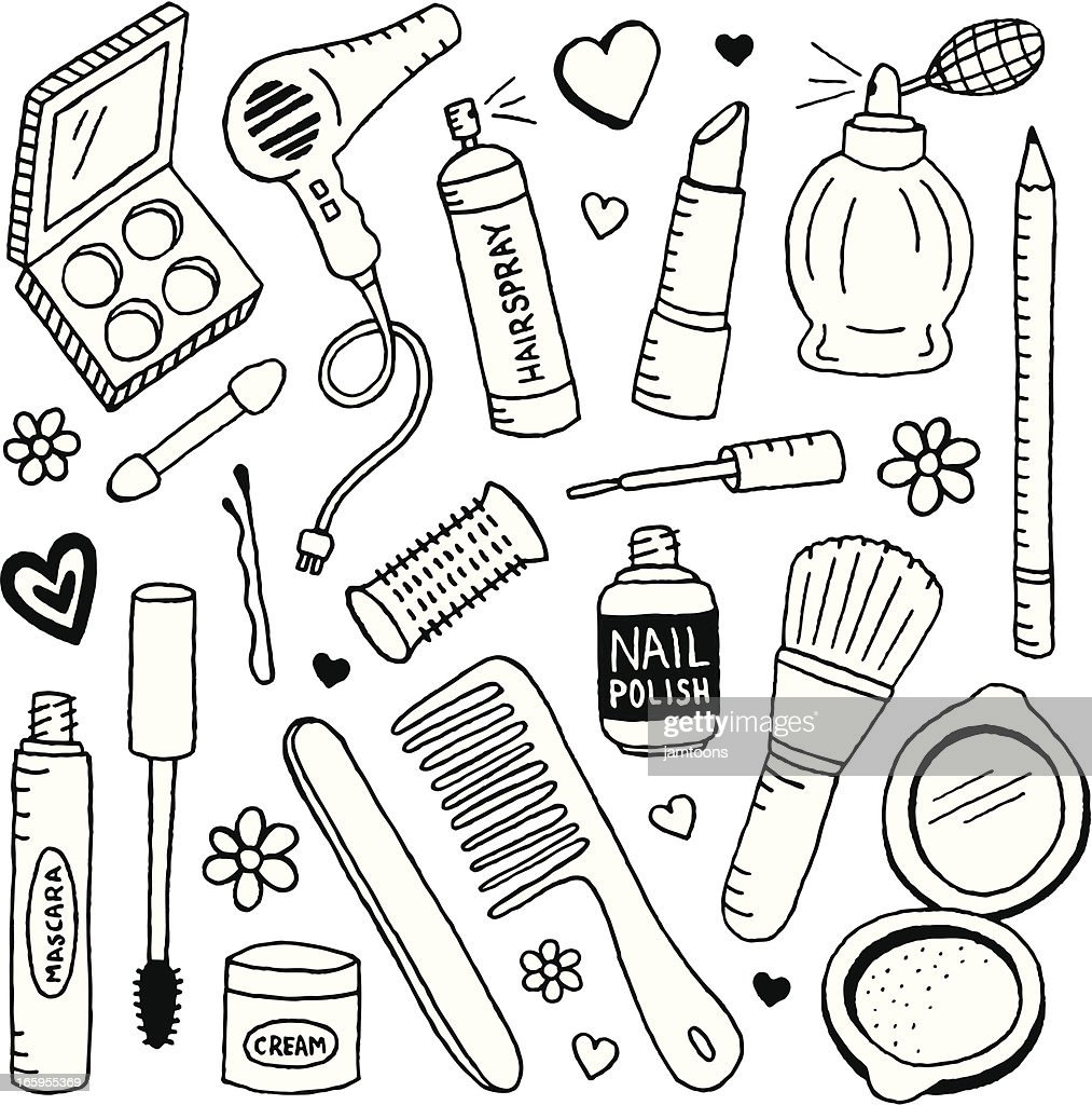 beauty doodles vector art getty