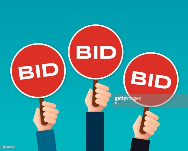 Bidder Auction Paddles Vector Art Getty