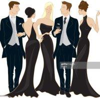 Black Tie Event Vector Art   Getty Images