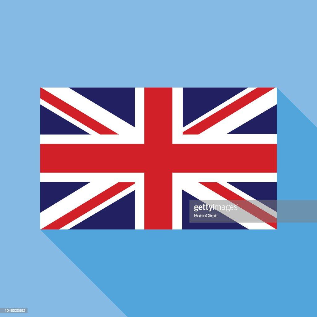 blue great britain flag