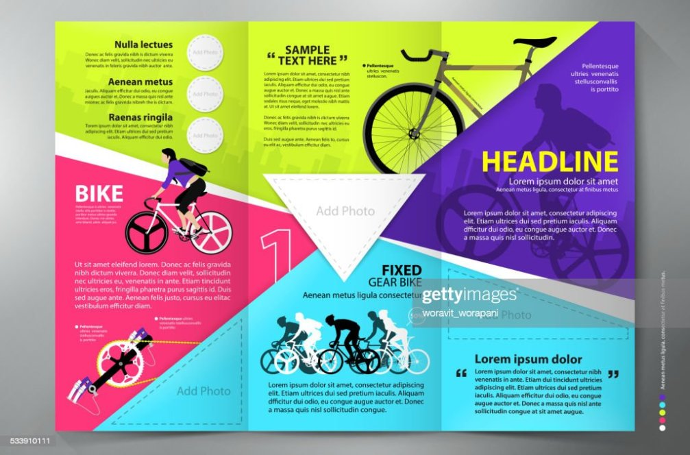 Brochure Leaflet Design Trifold Vector Template Vector Art Thinkstock