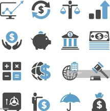 Business Finance Icon Set Concise Series Vector Art