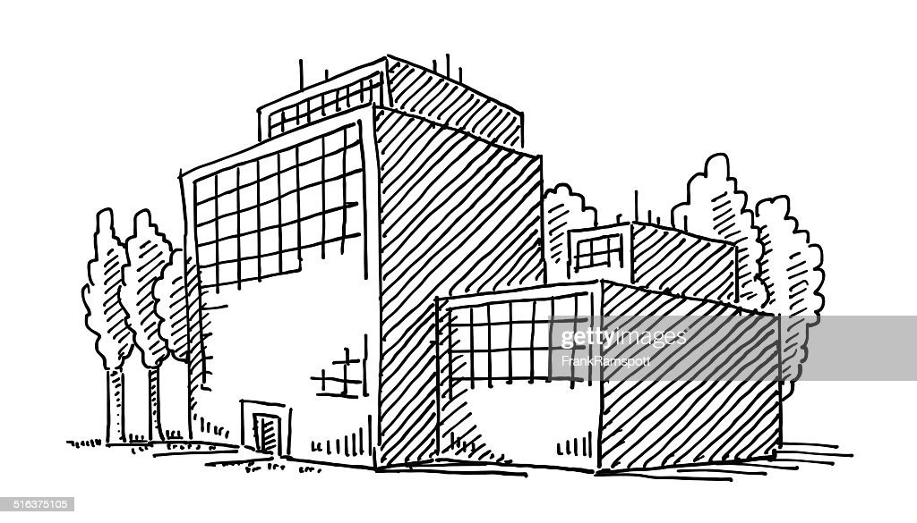 Business Office Building Drawing High Res Vector Graphic Getty Images