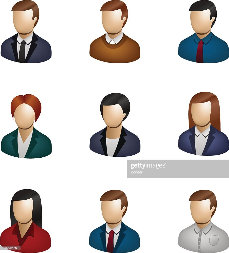 Business People Icon Set 3d Vector Art  Getty Images