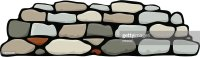 Cartoon Animation Of Stacked Stone Wall Vector Art | Getty ...
