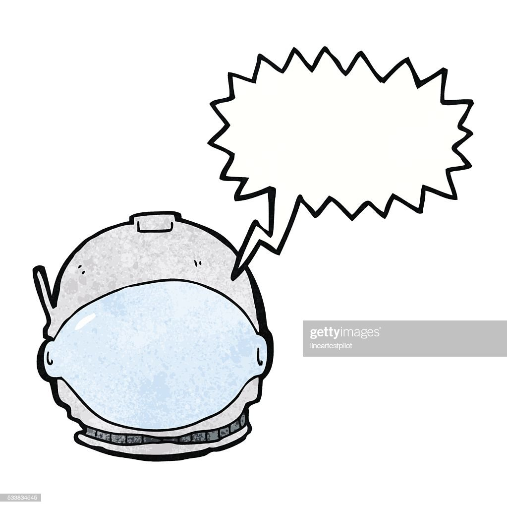 hight resolution of cartoon astronaut face with speech bubble stock vector