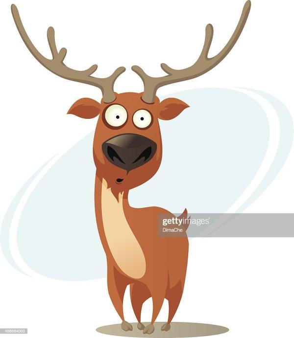 Cartoon Deer Vector Art Getty