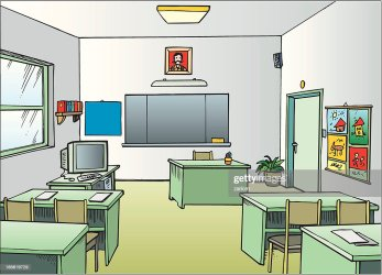Cartoon Empty Classroom View From Back Of The Class High Res Vector Graphic Getty Images