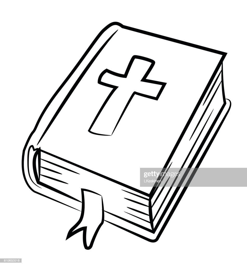 Comicbild Der Bibel Symbol Religionsymbol Vektorgrafik