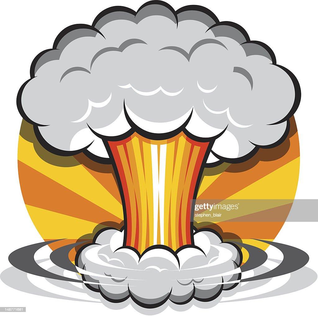 atomic bomb stock illustrations
