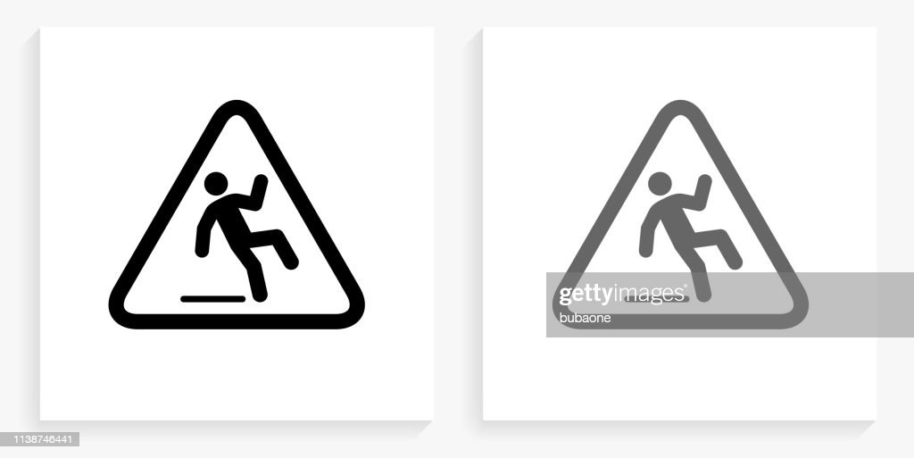 https www gettyimages ch detail illustration caution slippery sign black and white square lizenfreie illustration 1138746441 language fr