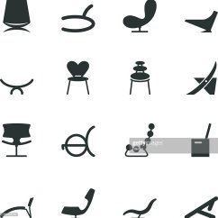 Chair Design Icons Adult Size Bean Bag Chairs Silhouette Vector Art Getty Images