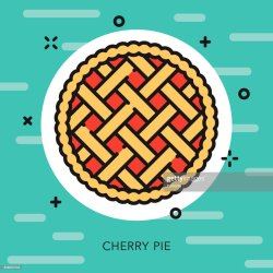 pie cherry illustrations outline vector icon clipart blueberry apple royalty