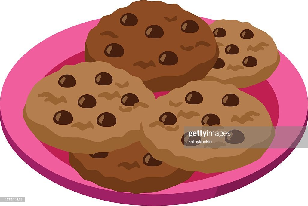 top chocolate chip cookie stock