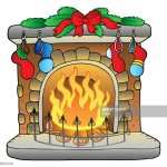 Weihnachten Cartoon Kamin Stock Illustration Getty Images