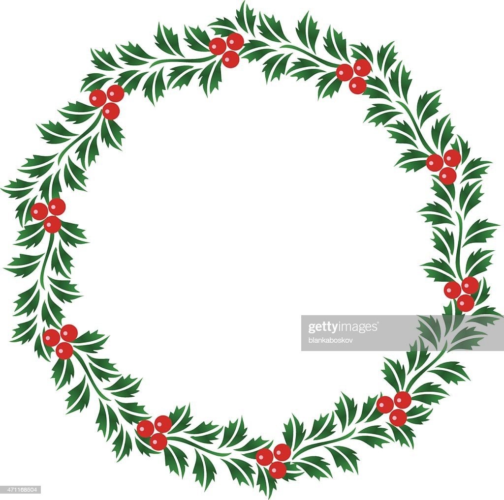 Christmas Garland Vector Art Getty Images