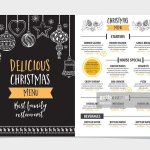 Christmas Party Menu Restaurant Food Flyer High Res Vector Graphic Getty Images