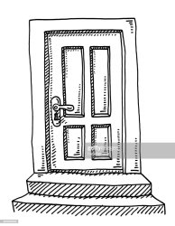 Closed Door Drawing High Res Vector Graphic Getty Images
