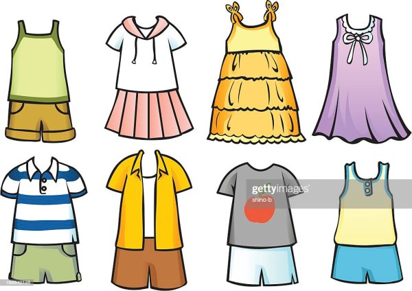 Clothes For Children 2 Vector Art Getty Images