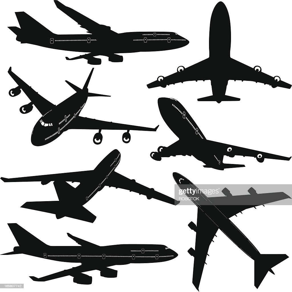 commercial airplane stock illustration