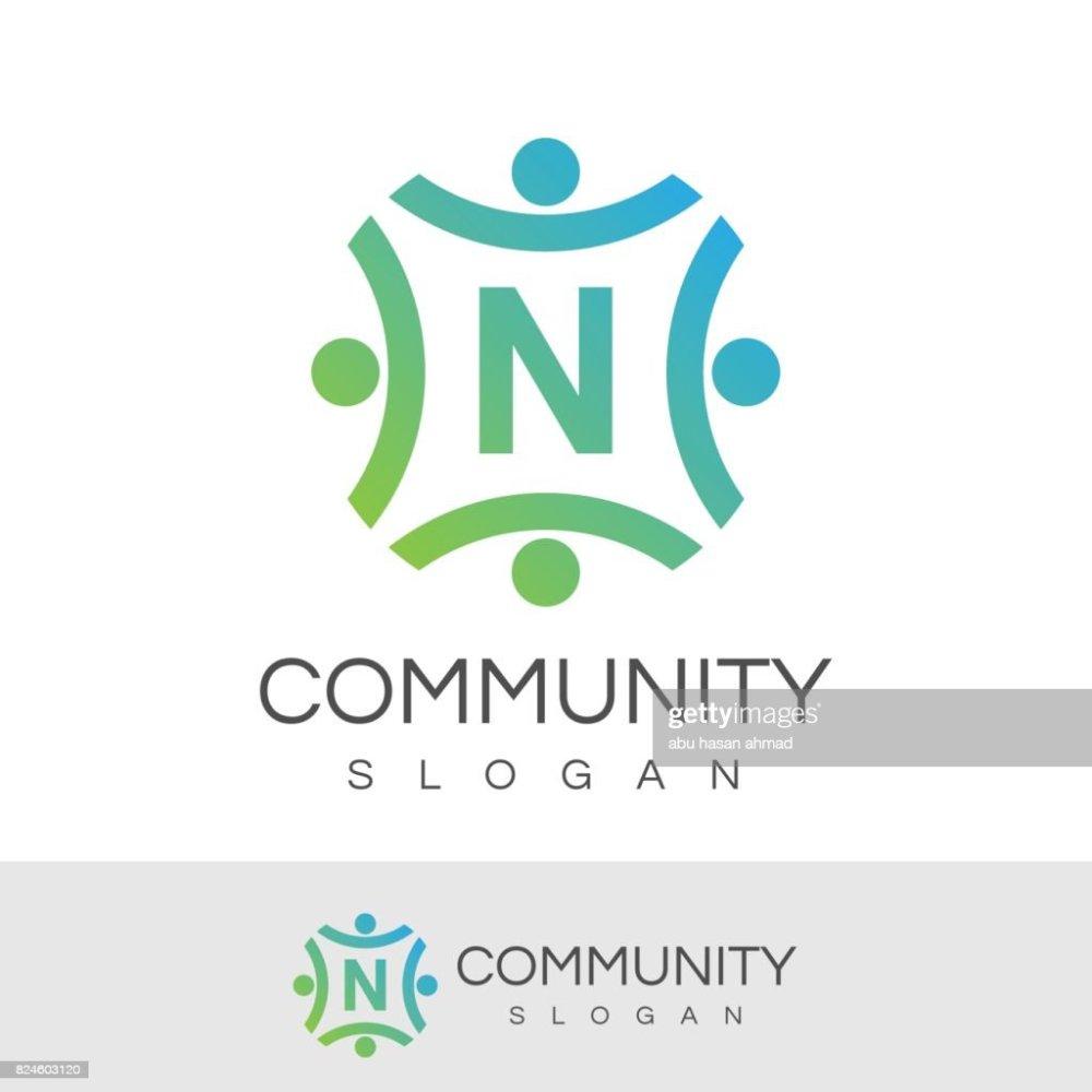 medium resolution of premi re lettre n ic ne dessin ou mod le communautaire clipart vectoriel