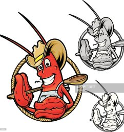 crawfish boil cowboy vector art [ 1024 x 1019 Pixel ]