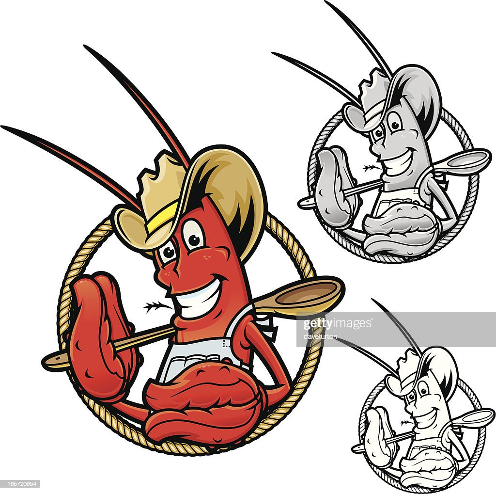 hight resolution of crawfish boil cowboy vector art