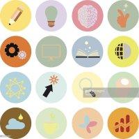 Creative Set Icon Flat Design Vector Eps10 Vector Art ...