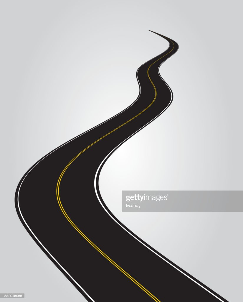 hight resolution of curved road