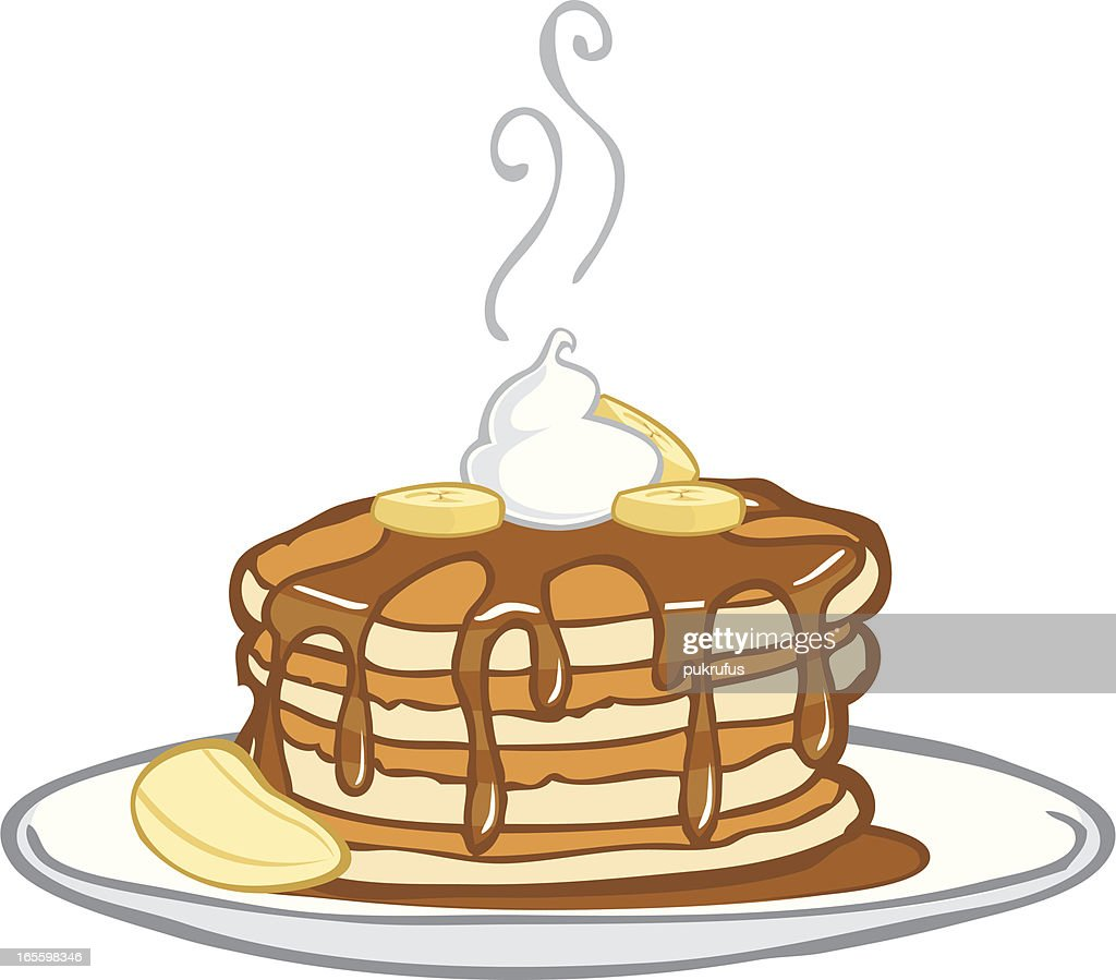 hight resolution of delicious dripping banana pancakes