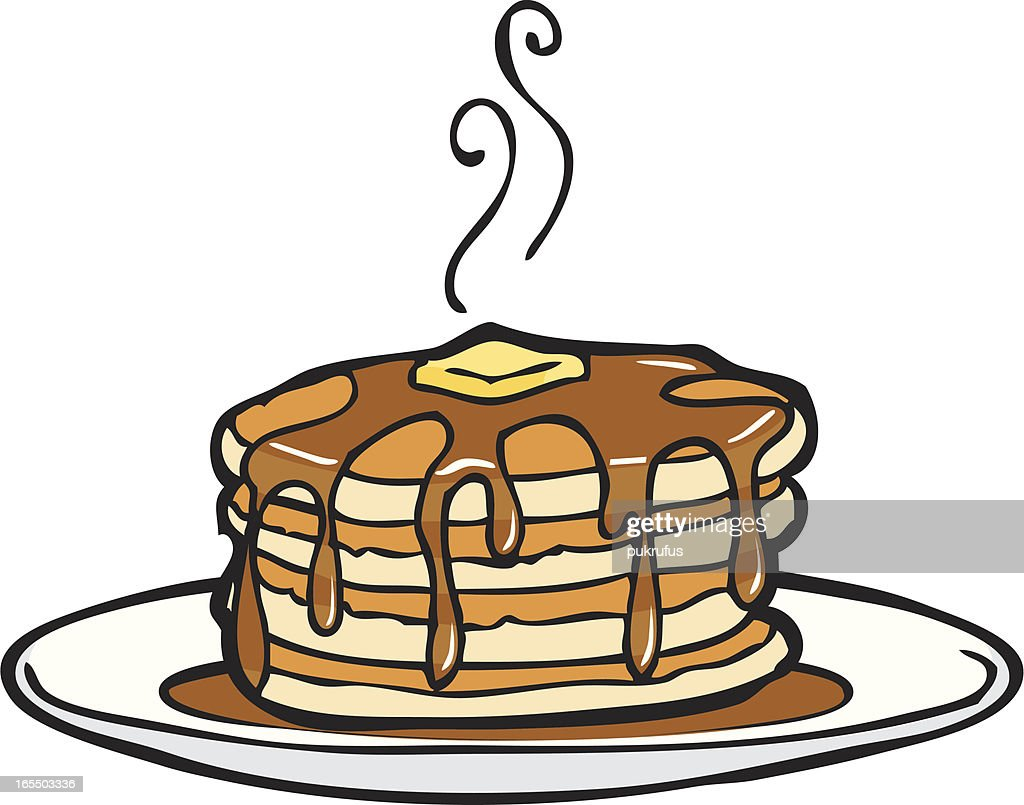 hight resolution of delicious dripping pancakes