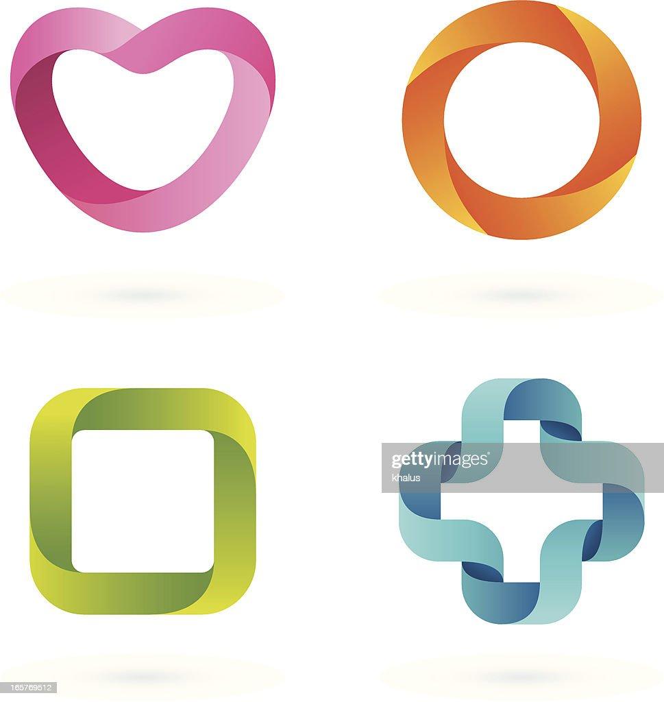 design elements striped symbols