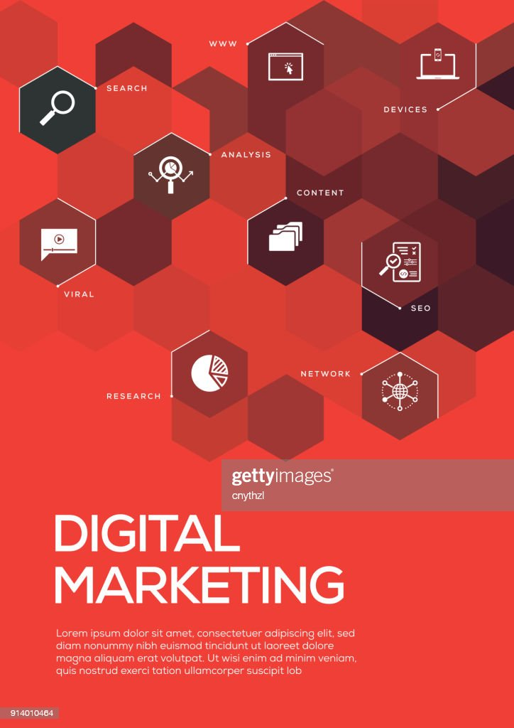 Digital Marketing Brochure Template Layout Cover Design Vector Art ...